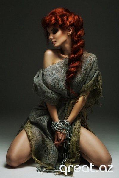 Kürən saçlarla gözəl Qızların Şəkilləri (113 Foto)