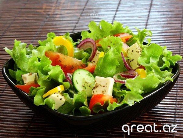 Arıqlamaq üçün, tərəvəz salatları: vitaminli pəhriz