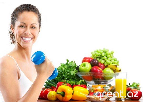 Fitnes-pəhriz: düzgün qidalanma arıqlamaqda yardım edir