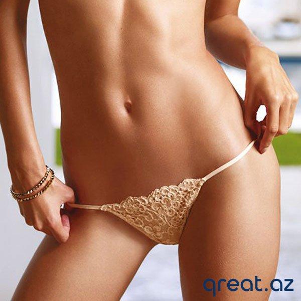 Bikini zonasında tükləri təmizləmək