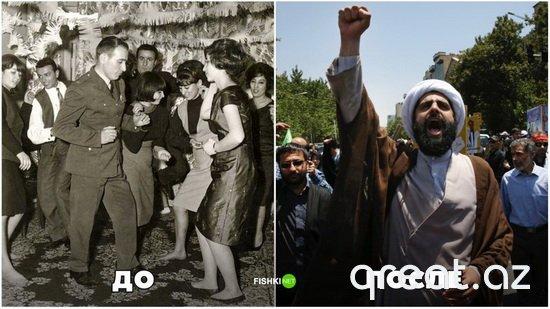 Şərq ölkələri İslam inqilabından əvvəl və sonra (15 foto)