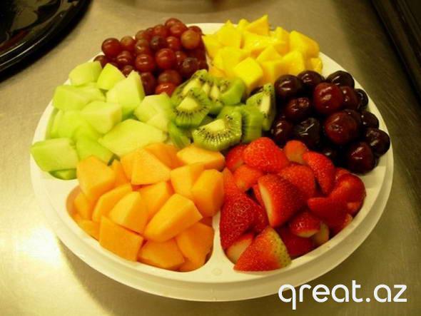 Meyvələrlə tez arıqlamaq mümkündürmü?