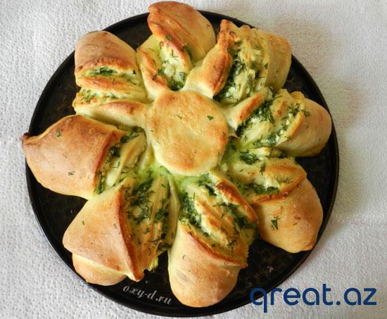 Brınzayla və göyərtiylə piroq resepti