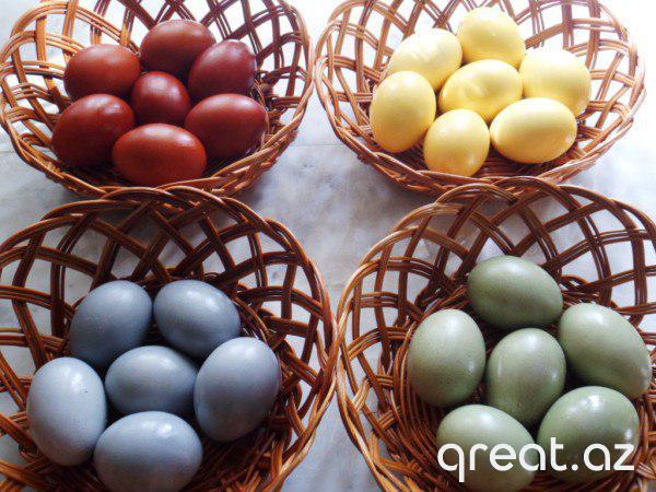 Necə təbii məhsulların köməyi ilə Novruz üçün yumurtaları rəngləmək