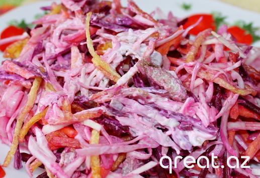 Çuğundurla fransız salatı, resept