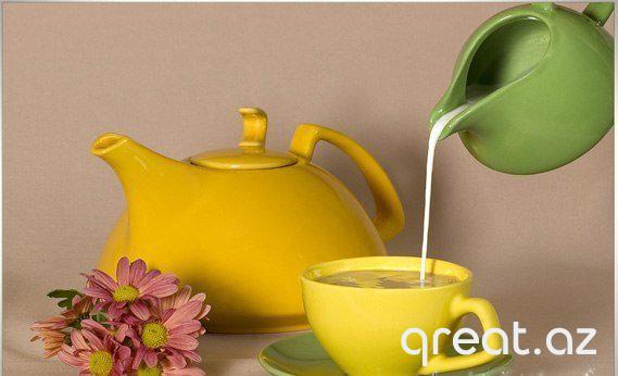 Yaşıl çay südlə arıqlamağa kömək edir